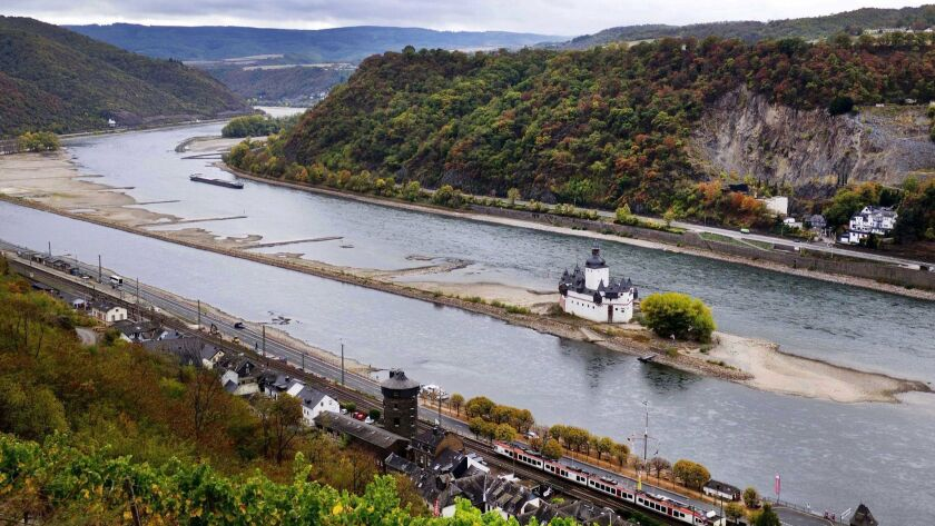 In this Wednesday, Oct.24, 2018 picture the Pfalzgrafenstein castle from the 14th century sits on a