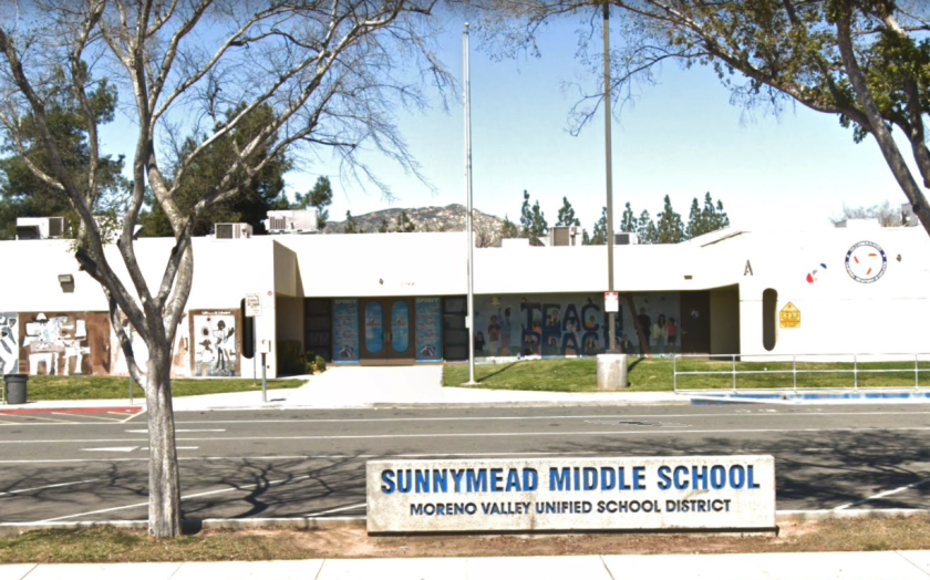 Sunnymead Middle School was the site of a second violent fight among Moreno Valley students in recent weeks.