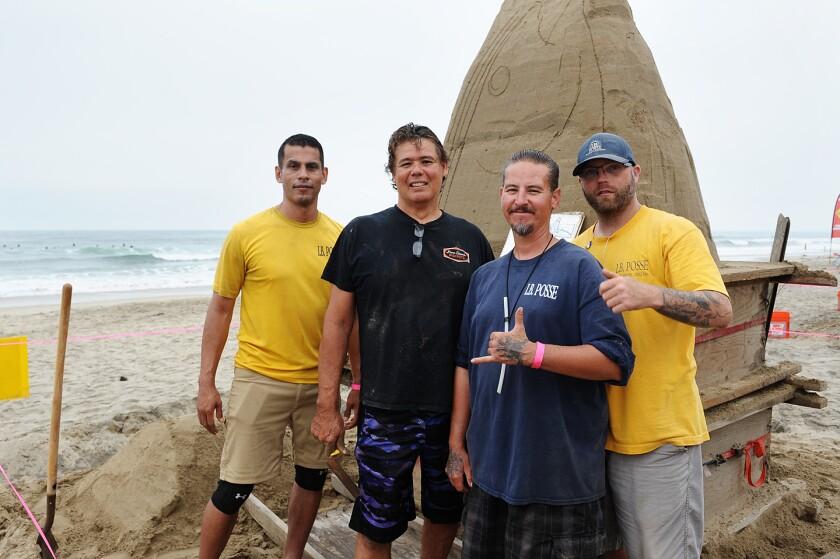 I.B. Posse members Jake Meyer, Mark Durazo, Dominic Williams, and Matthew McCoy