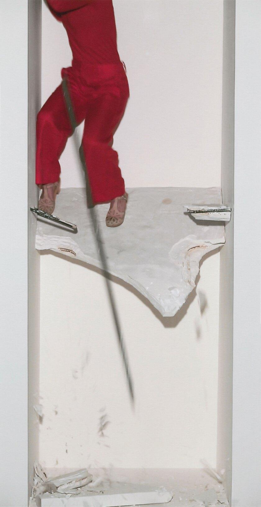"""Anna Garner comes crashing through in her video portrait """"Just Below""""."""