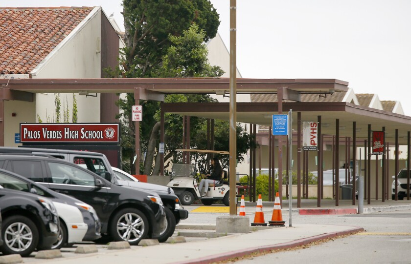 A student at Palos Verdes High School has reportedly tested positive for the novel coronavirus.