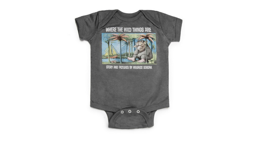 """Let the wild rumpus start with this """"Where the Wild Things Are"""" onesie. ($20, Out Of Print Clothing)"""