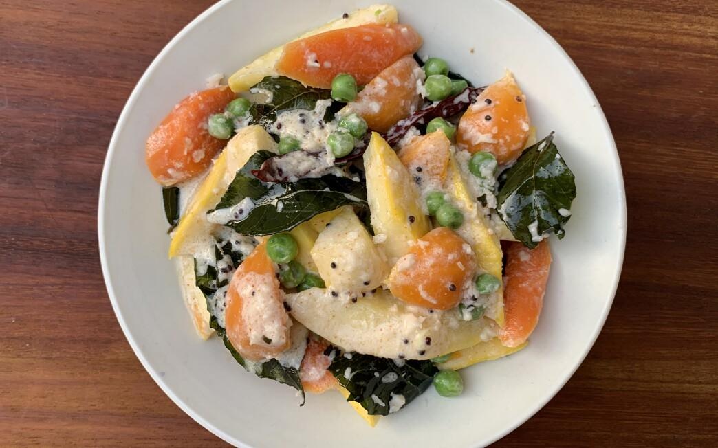 Summer vegetable kurma recipe by Genevieve Ko.
