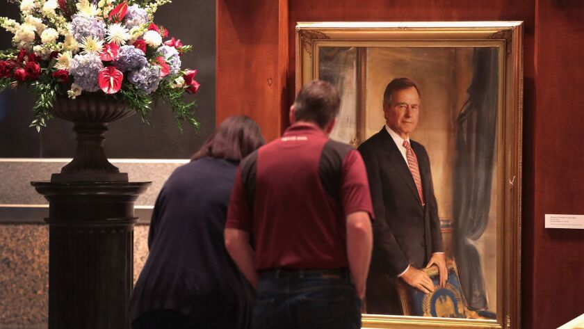 President George H.W. Bush Is Remembered At His Presidential Library In Texas, After He Passed Away At Age 94