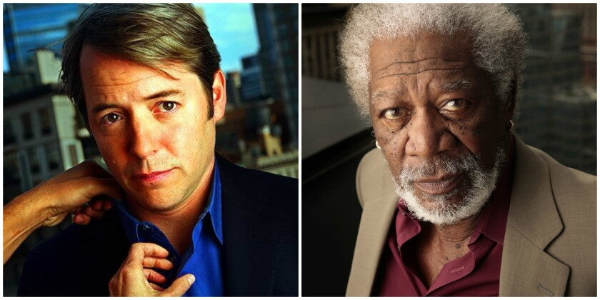 Matthew Broderick, left, and Morgan Freeman