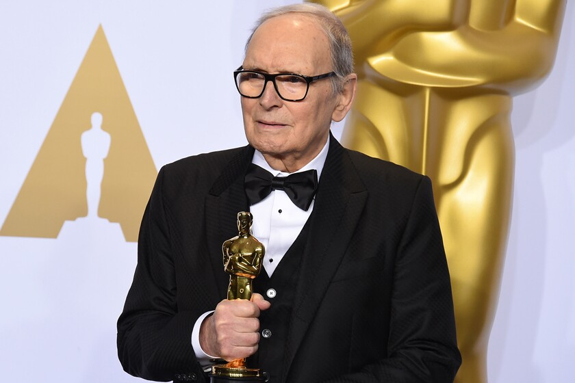 "Ennio Morricone at the 2016 Oscars, where he won the award for best original score (""The Hateful Eight"")."