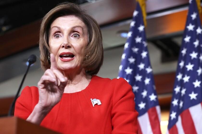 Nancy Pelosi, la 'piedra en el zapato' de Trump - Los Angeles Times
