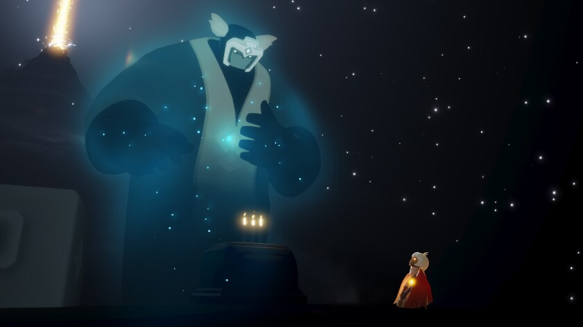 "Screenshot from the game ""Sky, "" from thatgamecompany based in Santa Monica."