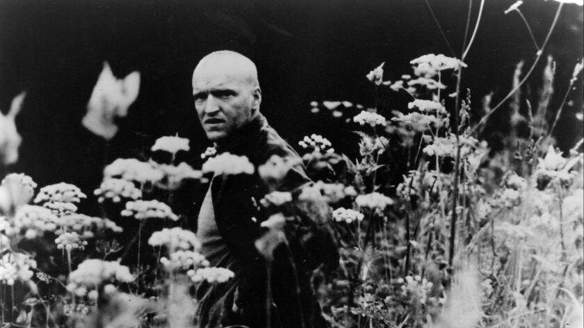 "Andrei Tarkovsky's movie ""Stalker"", with Stalker (Alexander Kaidanovsky). New Yorker Films Release."