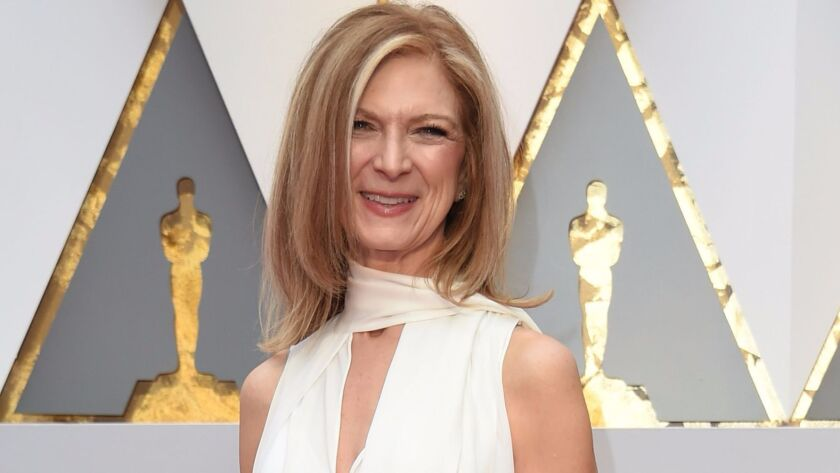 Academy Chief Executive Dawn Hudson arrives on the red carpet for the Oscars ceremony in Hollywood on Feb. 26, 2017.