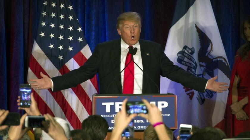 Donald Trump el ganador republicano.