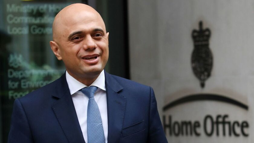 British Home Secretary Sajid Javid apologized Aug. 21, 2018, to U.K. residents from the Caribbean who were detained or deported after the Home Office reportedly destroyed thousands of landing cards documenting their arrival as migrants to Britain.