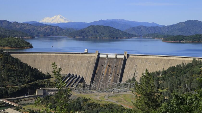 California agencies say they won't grant the federal government permits to raise Shasta Dam because the project would drown state-protected portions of the McCloud River.