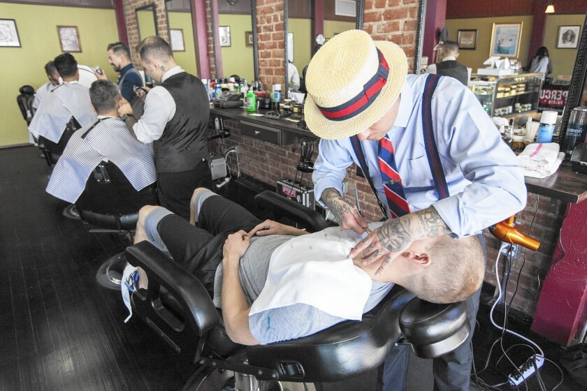 Manly & Sons Barber Co. in Echo Park