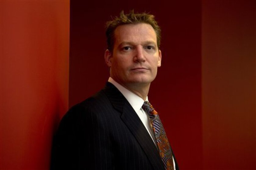 Mandiant founder and CEO Kevin Mandia is seen in his office in Alexandria, Va., Wednesday, Feb. 20, 2013. Mandiant, started in 2004 by Mandia, a private technology security firm described in extraordinary detail efforts it blamed on a Chinese military unit to hack into 141 businesses, mostly inside