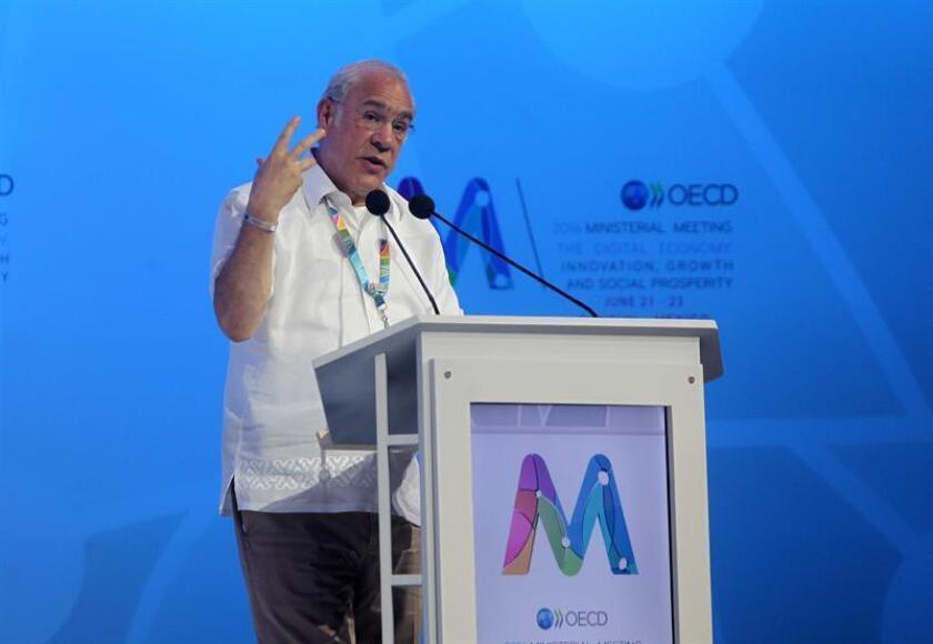 El secretario general de la Organización para la Cooperación y el Desarrollo Económicos (OCDE), Ángel Gurría. EFE/Archivo