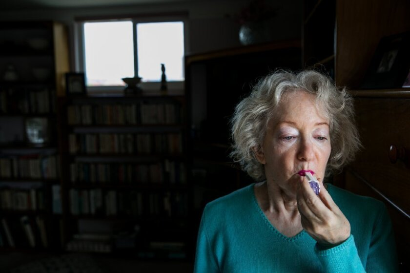 Cynthia Goldstein of Los Angeles uses MannKind's inhaled insulin, Afrezza, to treat her Type 1 diabetes.