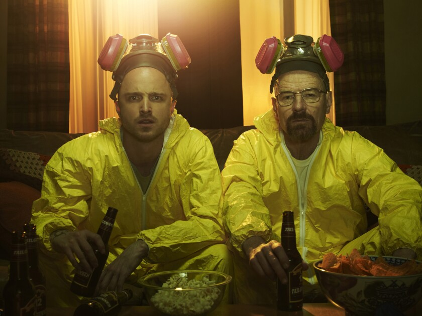 "Aaron Paul and Bryan Cranston in ""Breaking Bad"""