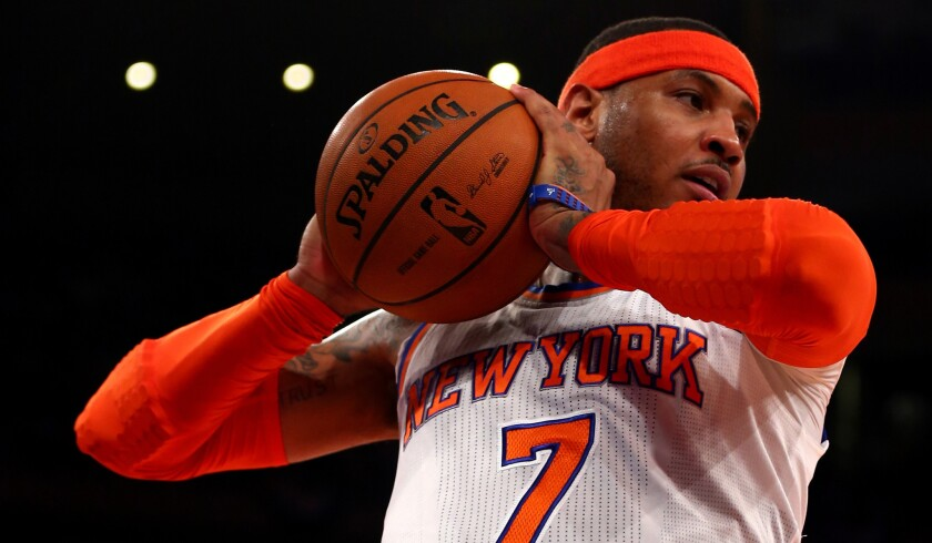 Knicks forward Carmelo Anthony is averaging 24.1 points, 6.6 rebounds and 3.1 assists a game this season.
