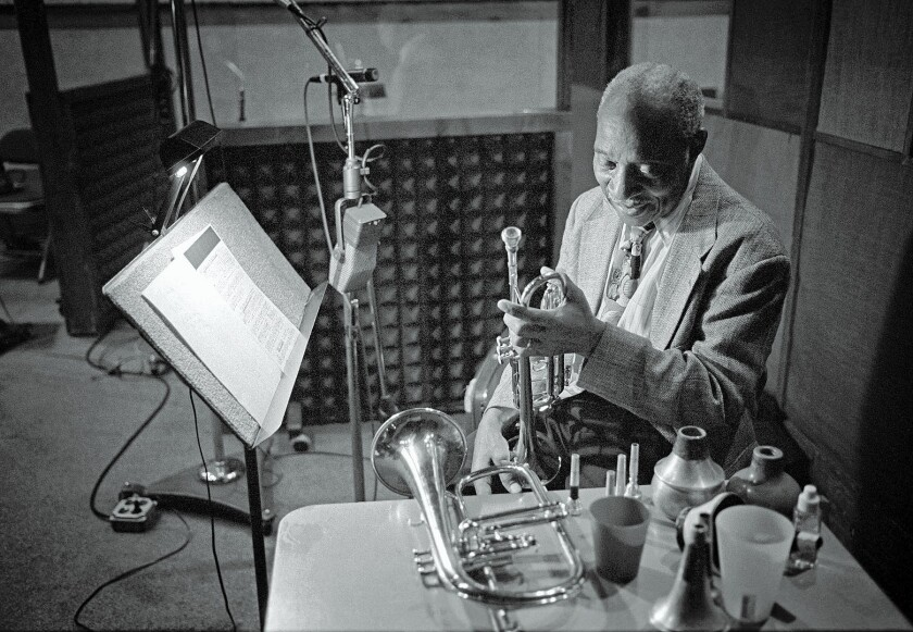 Trumpeter Joe Wilder, shown at a 2002 recording session, was known for his understated elegance in both music and life.