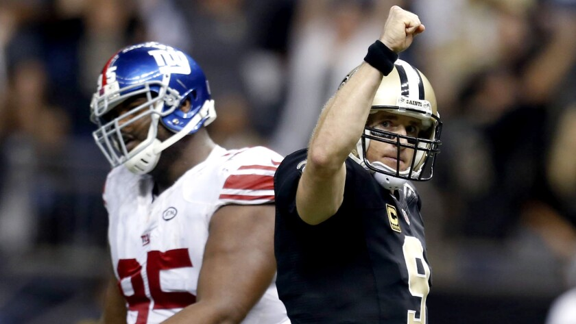 Saints-Giants shootout earns shout-outs for QBs Drew Brees, Eli Manning