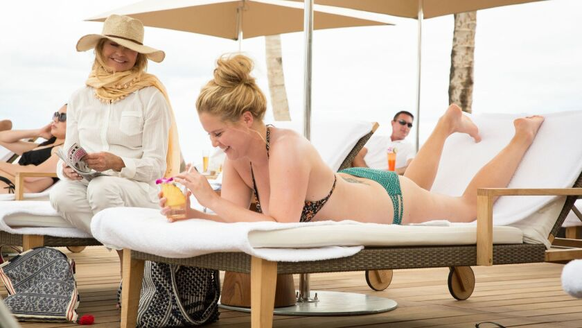 """Goldie Hawn as Linda and Amy Schumer as Emily in """"Snatched."""" Credit: Justina Mintz / 20th Century Fo"""