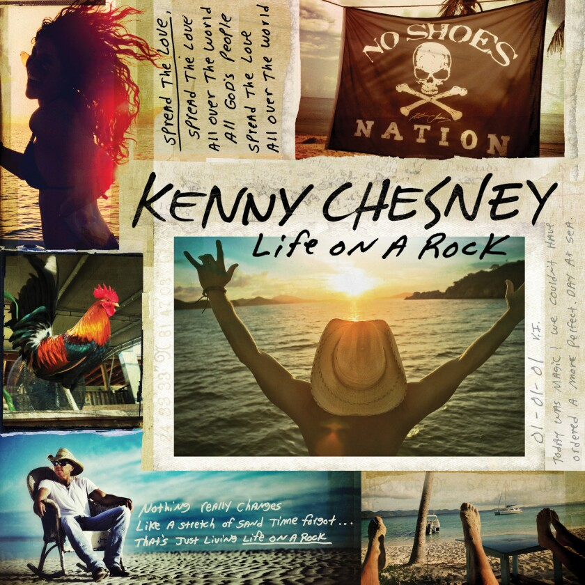 """Kenny Chesney's new album is """"Life on a Rock."""""""