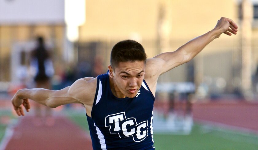 TCC standout Matthew DeRoos, who carries a 4.55 GPA, entered the finals with a section-best mark of 47-01/4 in the triple jump.