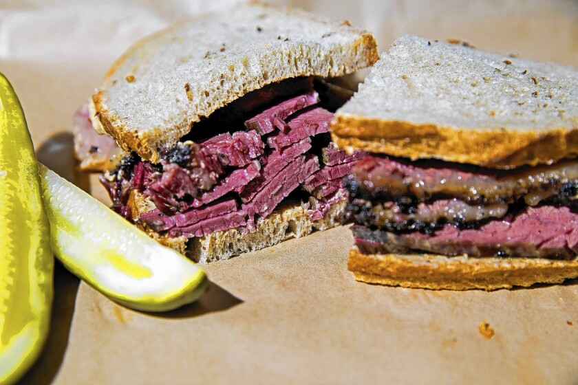 The O.G. at Wexler's Deli is pastrami and mustard on rye. The deli cures its own meat and makes its own pickles.