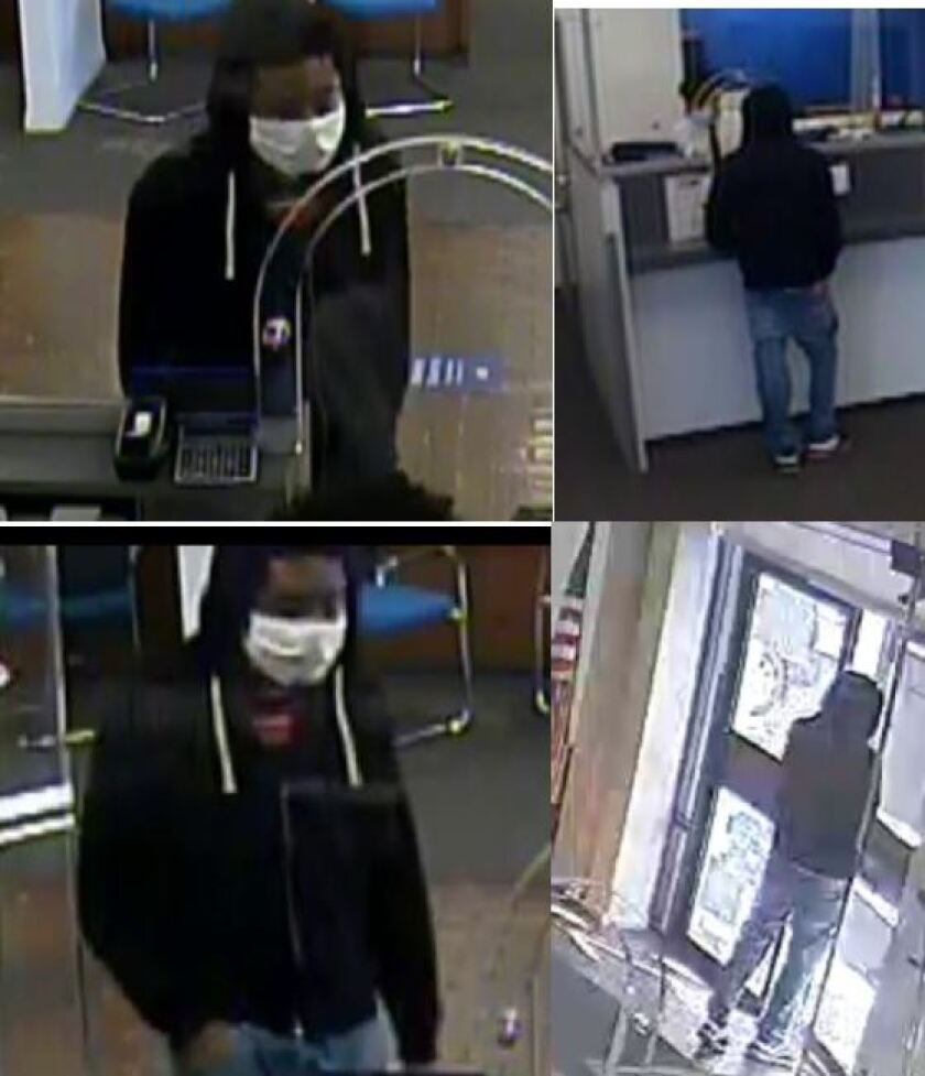 Investigators say this man robbed a bank teller Thursday afternoon at the Citibank branch on H Street and Garrett Avenue.