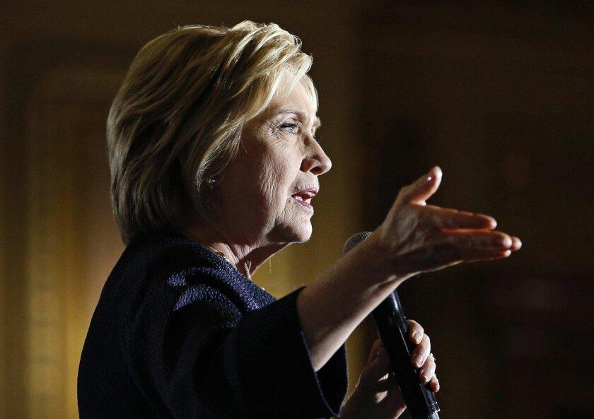 Democratic presidential nominee: Hillary Clinton