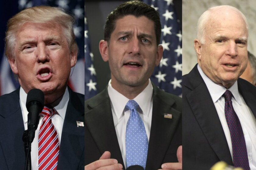 Donald Trump on Tuesday said he is on the fence on endorsing Rep. Paul Ryan (R-WI) and Sen. John McCain (R-AZ) on their upcoming district races.