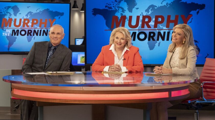 This image released by CBS shows Joe Regalbuto, Candice Bergen and Faith Ford from the comedy series