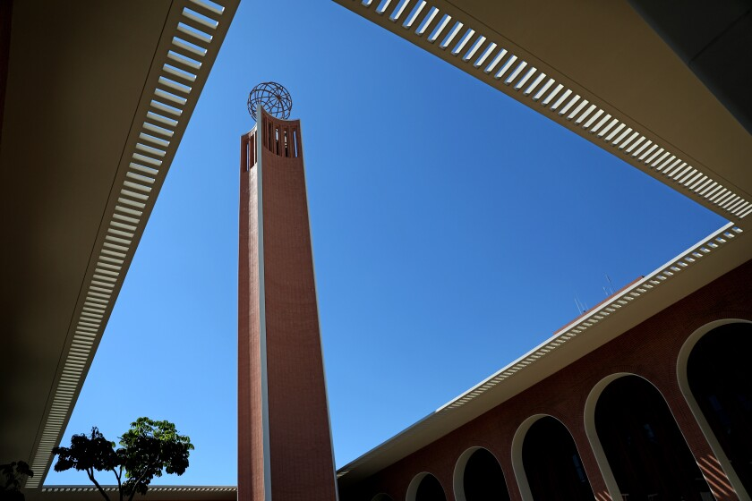 USC has removed the name of former President Rufus von KleinSmid from a prominent campus building.