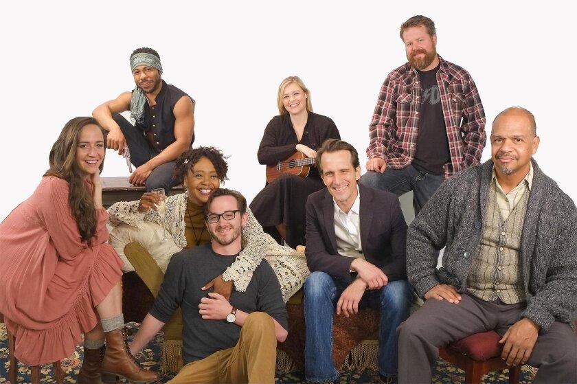 Cast and crew: Rachel Esther Tate (Nina), Ro Boddie (Con), Karole Foreman (Emma), director Rob Lutfy, Jacque Wilke (Mash), Francis Gercke (Trig), Brian Rickel (Dev) and Walter Murray (Sorn)