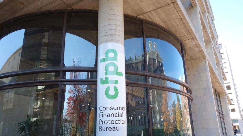 The Consumer Financial Protection Bureau's seven-story home remains just another drab concrete-and-g
