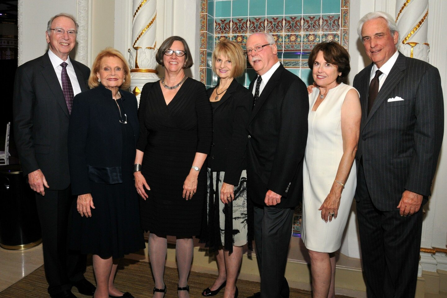 Irwin and Joan Jacobs, Symphony CEO Martha Gilmer, Phyllis and Daniel Epstein, Karen and Warren Kessler, Symphony board chair
