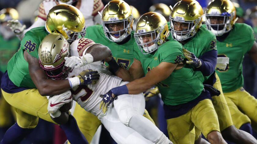 Florida State and running back Jacques Patrick, who averaged 3.3 yards a carry, found out how difficult it is to run against Notre Dame on Nov. 10.