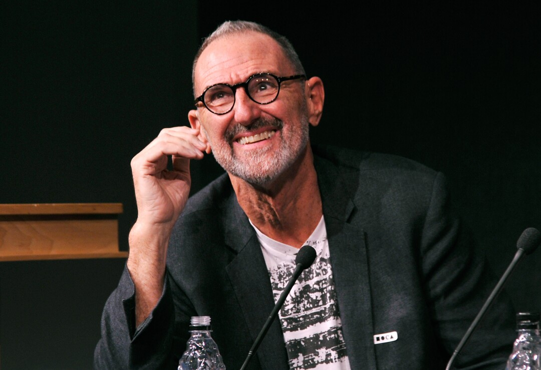 Architect Thom Mayne at a panel discussion in 2013