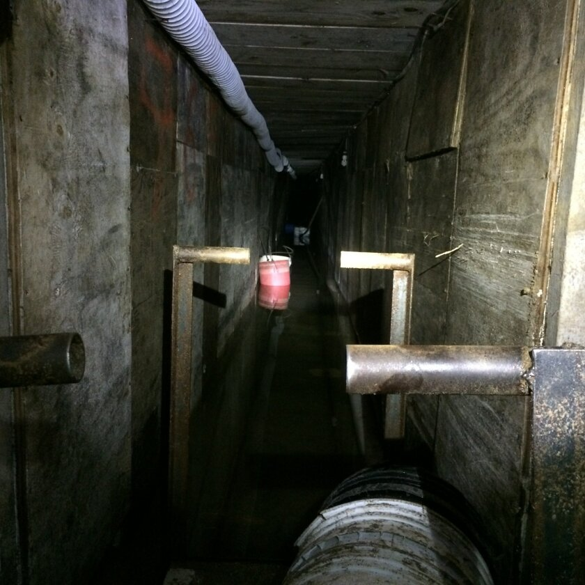 An incomplete tunnel discovered early Tuesday by the U.S. Border Patrol west of the San Ysidro Port of Entry had lighting and a rail system.