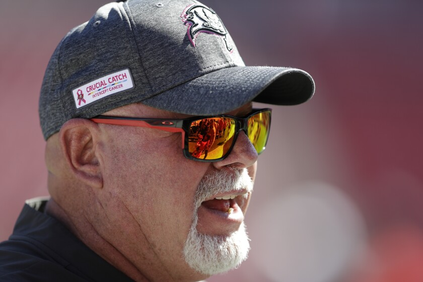 Tampa Bay Buccaneers coach Bruce Arians.