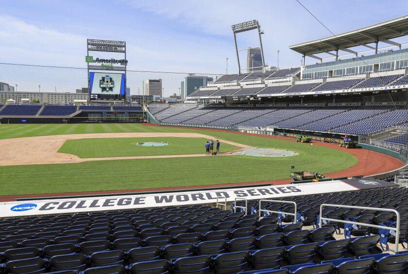 Virus Outbreak Sports Deserted Icons CWS Baseball