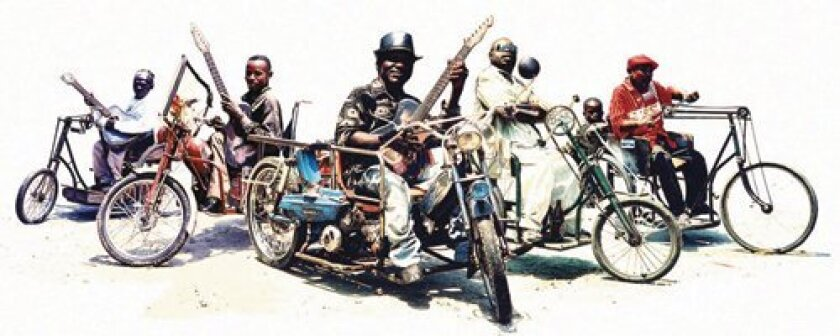 Congolese street performers Staff Benda Bilili will bring their customized tricycles, tin-can guitars and vibrant vocals to Mandeville Auditorium, Oct. 23. Courtesy