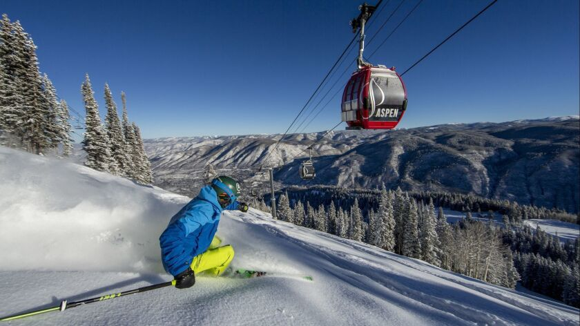 ASPEN, COLO. -- A skier traverses hallowed winter sports ground on Aspen Mountain. (Matt Power Photo