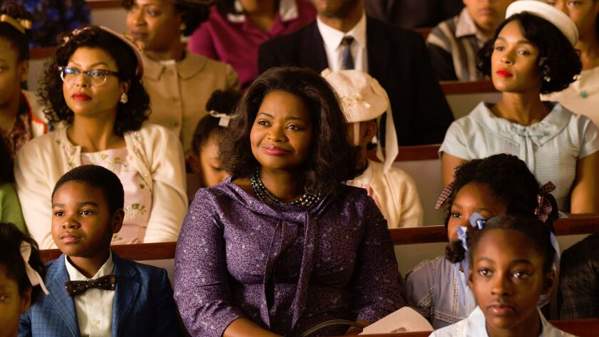 "Octavia Spencer, center, in ""Hidden Figures."""