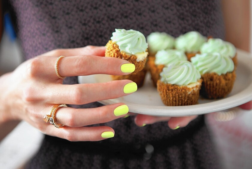 Orly's Sugar High collection has nail polish colors, including the shown Key Lime Twist, inspired by confections from Aunti Em's in the nail brand's hometown, Los Angeles.