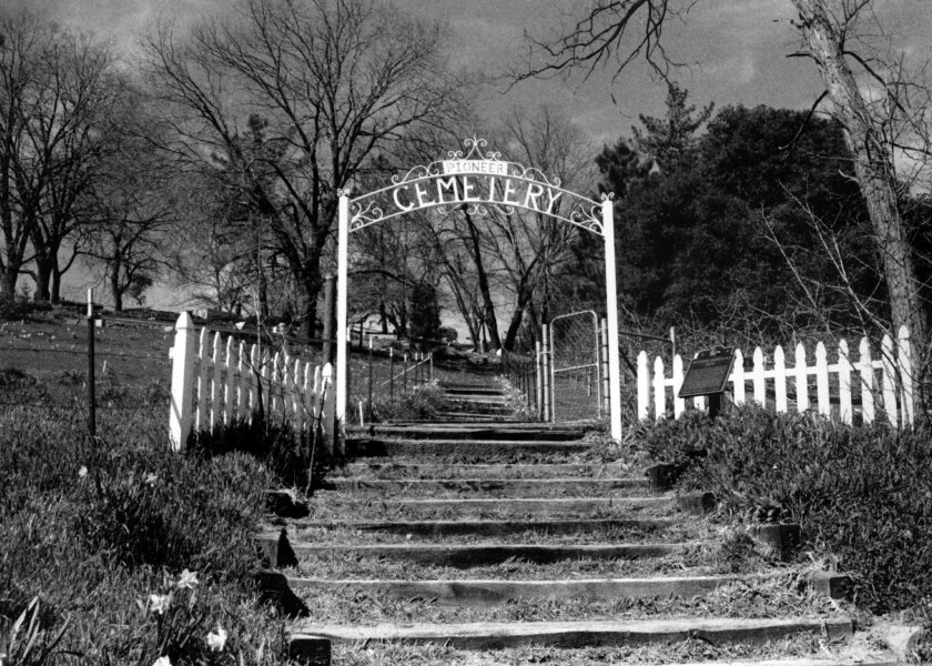 Julian Cemetery, where many pioneers of the mountain town were buried, is one of the stops on Julian's walking tours.