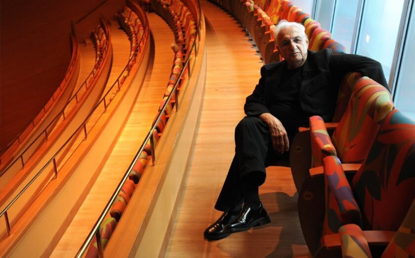 Frank Gehry at Walt Disney Concert Hall in Los Angeles in August.