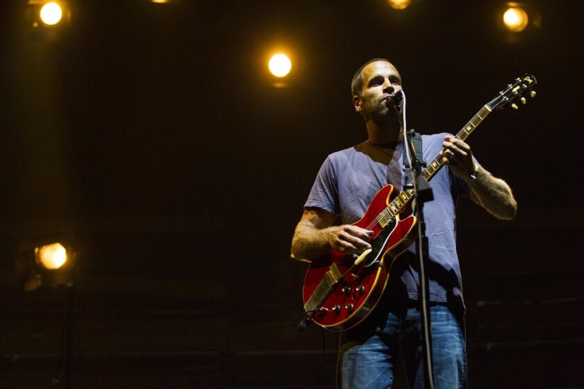 SAN DIEGO, September 18, 2016 Day 3 of the 2016 KAABOO Del Mar concert series. Jack Johnson caps off KAABOO Del Mar 2016 with his performance on the Sunset Cliffs Stage. Chadd Cady / San Diego Union-Tribune ** for use by tronc newspapers and their web s