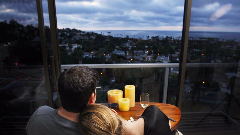 Cusp restaurant, on the top floor of the Hotel La Jolla, has one of the top views for dining in the county.